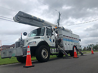 FPL Crews restoring power during Hurricane Dorian in Vero Beach, Fla. on September 4, 2019