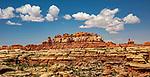 USA, Utah, Canyonlands National Park , Striped Needles