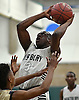 Jonathan Dean #3 of Westbur shoots a jumper during the Nassau County varsity boys basketball Class AA semifinals against Westbury at SUNY Old Westbury on Tuesday, Feb. 28, 2017. He scored a team-high 18 points in Westbury's 48-45 win.