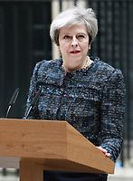 MAY 03 PM Theresa May at Downing Street