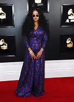 H.E.R. arrives at the 61st annual Grammy Awards at the Staples Center on Sunday, Feb. 10, 2019, in Los Angeles. (Photo by Jordan Strauss/Invision/AP)