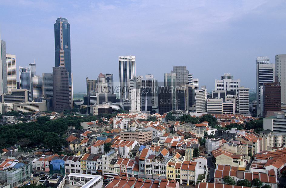 Asie/Singapour/Singapour/Chinatown: La ville et ses buildings