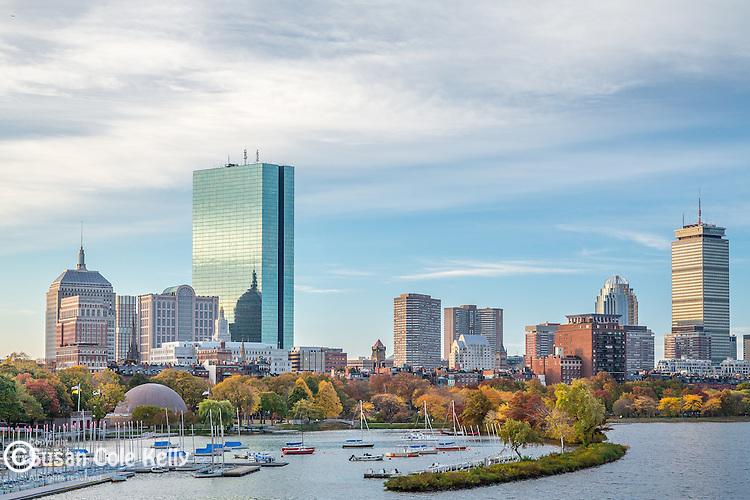 Autumn on the Charles River Esplanade, Boston, Massachusetts, USA