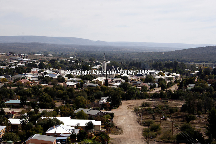 PRIESKA, NORTHERN CAPE - 16 June 2008 - The skyline of Prieska as seen from a nearbyhill. Located near the Orange River, the town was founded in 1882..Picture: Giordano Stolley/Allied Picture Press/APP