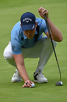 Danny Willett (GBR) lines up his putt on 6 during round 2 of the World Golf Championships, Mexico, Club De Golf Chapultepec, Mexico City, Mexico. 2/22/2019.<br /> Picture: Golffile | Ken Murray<br /> <br /> <br /> All photo usage must carry mandatory copyright credit (© Golffile | Ken Murray)