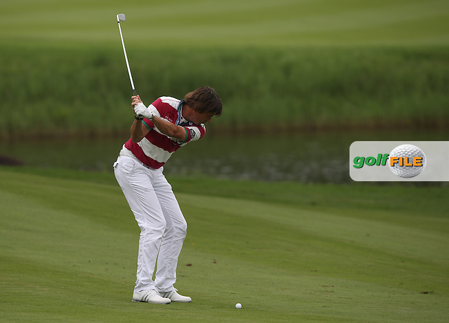 Robert-Jan Derksen (NED) dropped just one shot in a round of 69 and T9th after Round Two of the 2014 Volvo China Open, Genzon Golf Club, Shenzhen, China. Picture:  David Lloyd / www.golffile.ie
