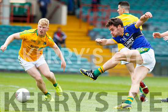 Kerry's Tomás Ó'Sé scores a goal. All Ireland Junior Championship Semi-Final, Kerry V Leitrim. 22/07/2017. Gaelic Grounds, Limerick, Co Limerick. Credit: Conor Wyse
