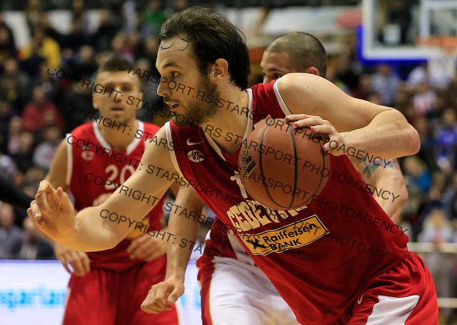 Kosarka ABA League season 2014-2015<br /> Crvena Zvezda v Cedevita<br /> Miro Bilan<br /> Beograd, 16.02.2015.<br /> foto: Srdjan Stevanovic/Starsportphoto&copy;