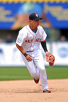 Shortstop Jose Iglesias #10 of the Pawtucket Red Sox during a game versus the Toledo Mud Hens on May 3, 2011 at McCoy Stadium in Pawtucket, Rhode Island. Photo by Ken Babbitt /Four Seam Images