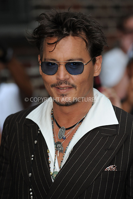 WWW.ACEPIXS.COM . . . . . <br /> June 25, 2013...New York City....Johnny Depp arrives to tape an appearance on the Late Show with David Letterman on May 2, 2012  in New York City....Please byline: KRISTIN CALLAHAN - ACEPIXS.COM.. . . . . . ..Ace Pictures, Inc: ..tel: (212) 243 8787 or (646) 769 0430..e-mail: info@acepixs.com..web: http://www.acepixs.com