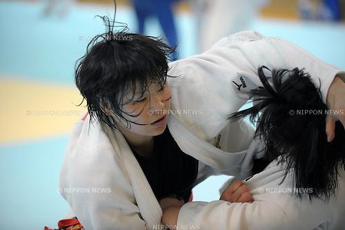 Akari Ogata, MARCH 28, 2012 - Judo : Japanese women's national team open the practice for press at Ajinomoto National Trining center in Itabashi, Japan. (Photo by Atsushi Tomura /AFLO SPORT) [1035]