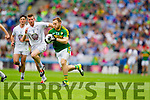 Darran O'Sullivan, Kerry in action against Ciaran Fitzpatrick, Kildare in the All Ireland Quarter Final at Croke Park on Sunday.