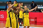 Oldenburg Jubel,Freude,Begeisterung,<br /> <br /> Basketball 1.Bundesliga,BBL, nph0001-Finalturnier 2020.<br /> Viertelfinale am 18.06.2020.<br /> BROSE BAMBERG-EWE BASKETS OLDENBURG,<br /> Audi Dome<br /> <br /> Foto:Frank Hoermann / SVEN SIMON / /Pool/nordphoto<br /> <br /> National and international News-Agencies OUT - Editorial Use ONLY