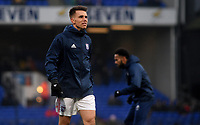 Ipswich Town's Jonas Knudsen during the pre-match warm-up <br /> <br /> Photographer Hannah Fountain/CameraSport<br /> <br /> The EFL Sky Bet Championship - Ipswich Town v Wigan Athletic - Saturday 15th December 2018 - Portman Road - Ipswich<br /> <br /> World Copyright &copy; 2018 CameraSport. All rights reserved. 43 Linden Ave. Countesthorpe. Leicester. England. LE8 5PG - Tel: +44 (0) 116 277 4147 - admin@camerasport.com - www.camerasport.com