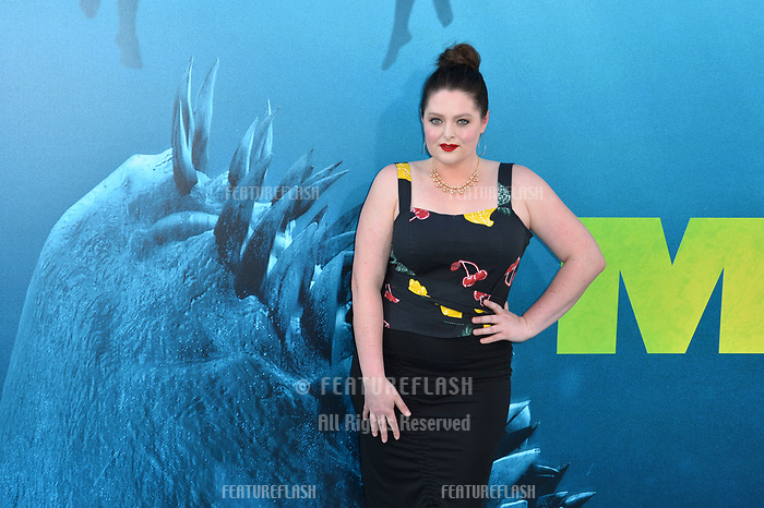 "LOS ANGELES, CA - August 06, 2018: Lauren Ash at the US premiere of ""The Meg"" at the TCL Chinese Theatre"