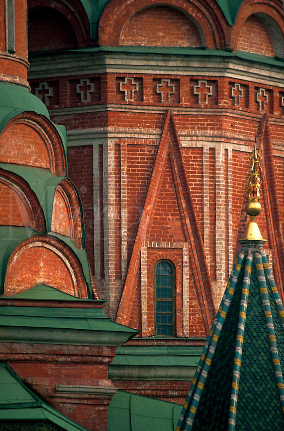 Architectural detail of St. Basil's Cathedral. Moscow, Russia.