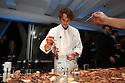 Chef Grant Achatz preparing dessert at a private diner provided bye Absolut Vodka at a private location on Nov 12, 2010. ( For Pernod Ricard)
