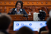 United States Representative Val Demings (Democrat of Florida) questions witnesses during a US House Judiciary Committee hearing on the impeachment of US President Donald Trump on Capitol Hill in Washington, DC, December 4, 2019.<br /> Credit: Saul Loeb / Pool via CNP