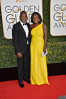 Viola Davis &amp; Julius Tennon at the 74th Golden Globe Awards  at The Beverly Hilton Hotel, Los Angeles USA 8th January  2017<br /> Picture: Paul Smith/Featureflash/SilverHub 0208 004 5359 sales@silverhubmedia.com