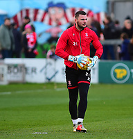 Lincoln City's Grant Smith during the pre-match warm-up<br /> <br /> Photographer Andrew Vaughan/CameraSport<br /> <br /> The EFL Sky Bet League Two - Lincoln City v Port Vale - Tuesday 1st January 2019 - Sincil Bank - Lincoln<br /> <br /> World Copyright © 2019 CameraSport. All rights reserved. 43 Linden Ave. Countesthorpe. Leicester. England. LE8 5PG - Tel: +44 (0) 116 277 4147 - admin@camerasport.com - www.camerasport.com