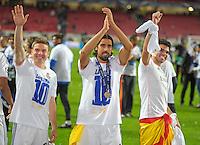 LISBOA, PORTUGUAL, 24.05.2014 - LIGA DOS CAMPEOES - REAL MADRID - ATLETICO DE MADRID - Sami Khedira do Real Madrid comemora a conquista da Liga dos Campeões após a vitória por 4 a 1, na prorrogação contra o Atlético de Madrid, no estádio da Luz, em Lisboa, Portugal, neste sábado. O Real conquistou a taça da Liga pela 10ª vez. (PHOTO: PIXATHLON / BRAZIL PHOTO PRESS).