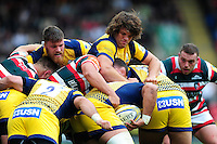 Donncha O'Callaghan of Worcester Warriors in action at a maul. Aviva Premiership match, between Leicester Tigers and Worcester Warriors on October 8, 2016 at Welford Road in Leicester, England. Photo by: Patrick Khachfe / JMP