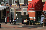 Coffee shop in Haarlem, Holland, the Netherlands.