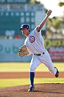 Brooks Raley (30) of the Daytona Cubs during a game vs. the Brevard County Manatees June 10 2010 at Jackie Robinson Ballpark in Daytona Beach, Florida. Brevard won the game against Daytona by the score of 12-8. Photo By Scott Jontes/Four Seam Images