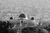Griffith Observatory, L.A.  los Angeles CA, Cityscape, Black and White, BW