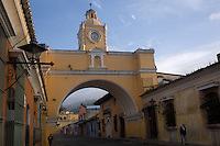 Looking north up the Calle Real and under the Santa Catalina Arch in Antigua.