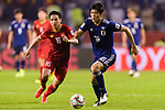 Tomiyasu Takehiro of Japan (R) fights for the ball with Do Hung Dung of Vietnam (L) during the AFC Asian Cup UAE 2019 Quarter Finals match between Vietnam (VIE) and Japan (JPN) at Al Maktoum Stadium on 24 January 2018 in Dubai, United Arab Emirates. Photo by Marcio Rodrigo Machado / Power Sport Images
