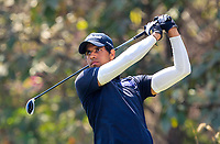 Aaron Rai (ENG) in action on the 13th during Round 4 of the Hero Indian Open at the DLF Golf and Country Club on Sunday 11th March 2018.<br /> Picture:  Thos Caffrey / www.golffile.ie<br /> <br /> All photo usage must carry mandatory copyright credit (&copy; Golffile | Thos Caffrey)