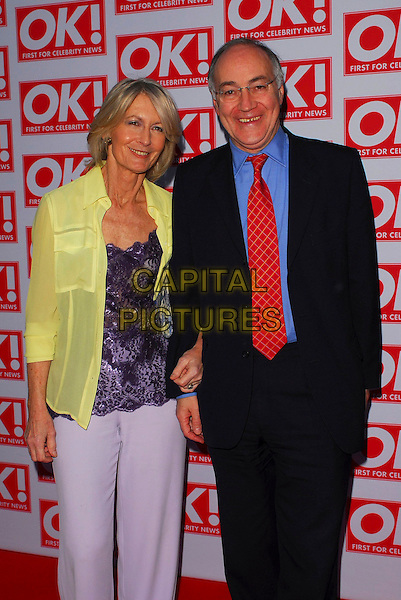 SANDRA & MICHAEL HOWARD.OK! Magazine - private 10th anniversary party, Old Billingsgate, London, UK..May 10th, 2006.Ref: CAN.half length black suit yellow shirt.www.capitalpictures.com.sales@capitalpictures.com.©Capital Pictures