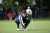 Daniel Brooks (ENG) in putting action during the Final Round of the British Masters 2015 supported by SkySports played on the Marquess Course at Woburn Golf Club, Little Brickhill, Milton Keynes, England.  11/10/2015. Picture: Golffile | David Lloyd<br /> <br /> All photos usage must carry mandatory copyright credit (&copy; Golffile | David Lloyd)