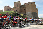 Action from Stage 6 of La Vuelta 2019 running 198.9km from Mora de Rubielos to Ares del Maestrat, Spain. 29th August 2019.<br /> Picture: Luis Angel Gomez/Photogomezsport | Cyclefile<br /> <br /> All photos usage must carry mandatory copyright credit (© Cyclefile | Luis Angel Gomez/Photogomezsport)