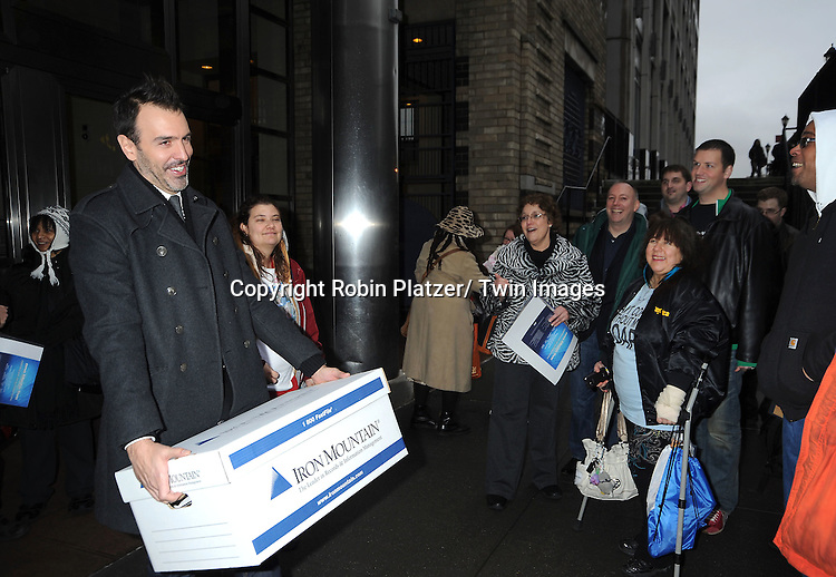 Ron Carlivati and fans  leave The One Life to Live cast  taping on The View on January 12, 2012 at The View Studio in New York City.
