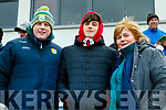 Mike, Mary and Jack Healy, Killorglin, supporting Kerry at the Allianz Football League Kerry v Galway, at Austin Park, Tralee, on Sunday last.