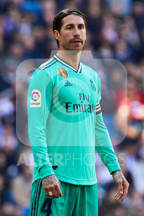 Sergio Ramos of Real Madrid during La Liga match between Real Madrid and RCD Espanyol at Santiago Bernabeu Stadium in Madrid, Spain. December 07, 2019. (ALTERPHOTOS/A. Perez Meca)
