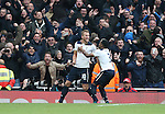 Tottenham's Harry Kane celebrates scoring his sides opening goal during the Premier League match at the Emirates Stadium, London. Picture date November 6th, 2016 Pic David Klein/Sportimage