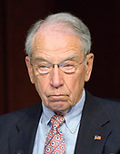 """United States Senator Chuck Grassley (Republican of Iowa) listens to testimony before the US Senate Committee on the Judiciary Subcommittee on Crime and Terrorism hearing titled """"Russian Interference in the 2016 United States Election"""" on Capitol Hill in Washington, DC on Monday, May 8, 2017.<br /> Credit: Ron Sachs / CNP<br /> (RESTRICTION: NO New York or New Jersey Newspapers or newspapers within a 75 mile radius of New York City)"""