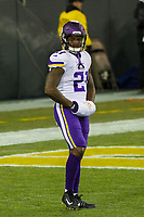 Minnesota Vikings running back Jerick McKinnon (21) during a National Football League game against the Green Bay Packers on December 23rd, 2017 at Lambeau Field in Green Bay, Wisconsin. Minnesota defeated Green Bay 16-0. (Brad Krause/Krause Sports Photography)