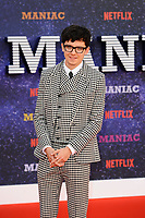 LONDON, ENGLAND - SEPTEMBER 13:  Asa Butterfield attending the World premiere of the new Netflix series 'Maniac' at Southbank Centre on September 13, 2018 in London, England.<br /> CAP/MAR<br /> &copy;MAR/Capital Pictures