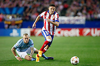 Siqueira of Atletico de Madrid during Champios Legue soccer match between Atletico de Madrid V Malmoe al Vicente Calderon Stadium. October 22, 2014. (ALTERPHOTOS/Caro Marin)