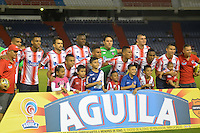 BARRANQUILLA  -COLOMBIA, 3-11-2016. Formación del Junior contra  Millonarios    durante encuentro  por la fecha 15 de la Liga Aguila II 2016 disputado en el estadio Metropolitano Roberto Meléndez ./ Team  of Junior  against of Millonarios  during match for the date 15 of the Aguila League II 2016 played at Metropolitano Roberto Melendez stadium . Photo:VizzorImage / Alfonso Cervantes  / Contribuidor