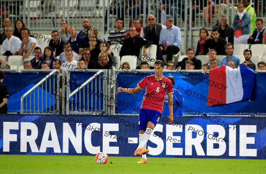 Fudbal Prijateljski mec-Friendly match<br /> Francuska v Srbija<br /> Radosav Petrovic<br /> Bordeaux, 07.09.2015.<br /> foto: Srdjan Stevanovic/Starsportphoto &copy;
