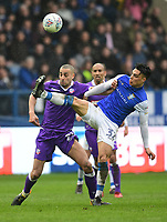 Bolton Wanderers' Darren Pratley vies for possession with Sheffield Wednesday's Joey Pelupessy<br /> <br /> Photographer Chris Vaughan/CameraSport<br /> <br /> The EFL Sky Bet Championship - Sheffield Wednesday v Bolton Wanderers - Saturday 10th March 2018 - Hillsborough - Sheffield<br /> <br /> World Copyright &copy; 2018 CameraSport. All rights reserved. 43 Linden Ave. Countesthorpe. Leicester. England. LE8 5PG - Tel: +44 (0) 116 277 4147 - admin@camerasport.com - www.camerasport.com