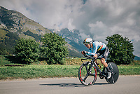 Ilan Van Wilder (BEL)<br /> <br /> MEN JUNIOR INDIVIDUAL TIME TRIAL<br /> Hall-Wattens to Innsbruck: 27.8 km<br /> <br /> UCI 2018 Road World Championships<br /> Innsbruck - Tirol / Austria