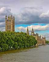 View from the River Thames of the Palace of Westminster