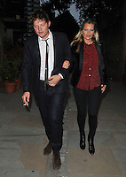 Nikolai von Bismark and Kate Moss at the &quot;Britten in Brooklyn&quot; press night performance, Wilton's Music Hall, Graces Alley, London, England, UK, on Friday 02 September 2016.<br /> CAP/CAN<br /> &copy;CAN/Capital Pictures /MediaPunch ***NORTH AND SOUTH AMERICAS ONLY***