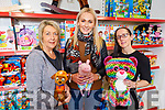 Ann O'Sullivan, Sharon Teahan and Carla Griffin, staff of Kellihers launching their new toy shop, Toys Upstairs at Kellihers on Tuesday.
